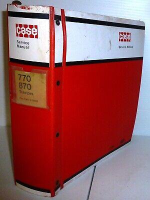 Case Vintage 770 And 870 Tractors Service Manual Wbinder