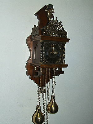 "Beautiful Old Dutch Oak  ""Zaanse"" Wall Clock,8 days Warmink Movement"