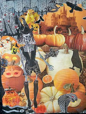 Spooky Harvest collage by Nancy Graham 2015, paper, small 9