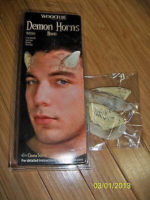 DEMON DEVIL BONE HORNS LATEX PROSTHETIC COSTUME MAKEUP CSWO203 (Halloween Makeup Bullet Hole)