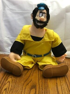 Brutus Doll Yellow Outfit Popeye Collectible 1985 by Presents (Hamilton Gifts)