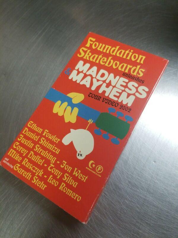 RARE on VHS Foundation Madness & Mayhem Skateboard Video Skate Tour Leo Romero