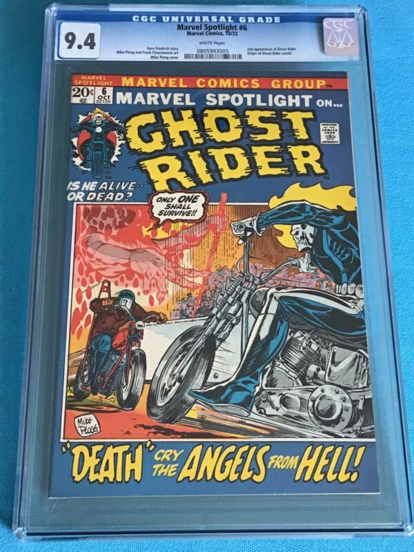 MARVEL SPOTLIGHT #6 CGC 9.4 WHITE 0805993005 2nd GHOST RIDER PICTURE FRAME
