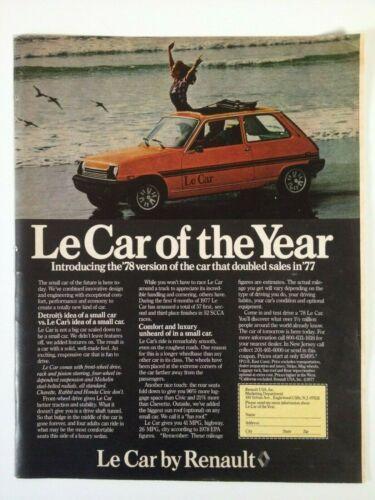 1978 Renault Le Car Vintage Print Ad