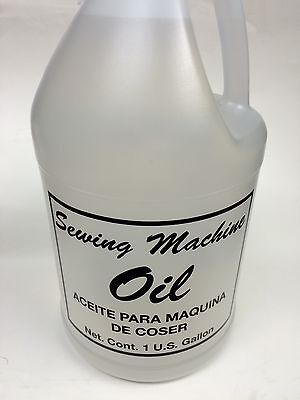 1 GALLON SEWING MACHINE OIL (PROFESSIONAL OR HOME USE) CLEAR COLOR