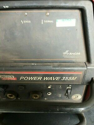 Lincoln Electric Power Wave 355m Welder W Power Feed 10m Wire Feeder