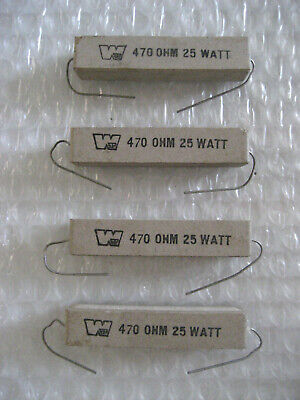 4 X Nos 470 Ohms Workman 25 Watt Power Resistor