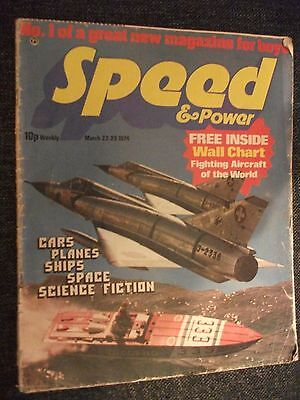 """SPEED AND POWER MAGAZINES """"USED"""" 1ST ISSUE THROUGH TO 87 WITH 3 ISSUES MISSING."""