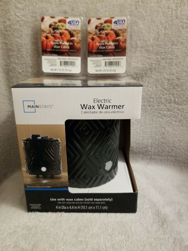MAINSTAYS Electric Wax Warmer + 2 packs of Scented Wax Melts Brand New