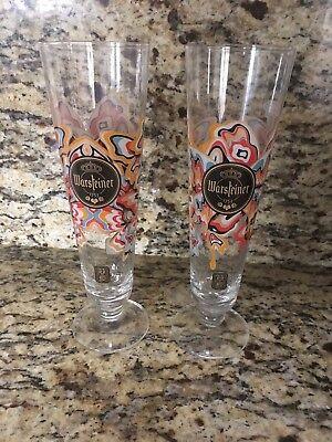 James Jean Warsteiner Tulip Beer Glasses
