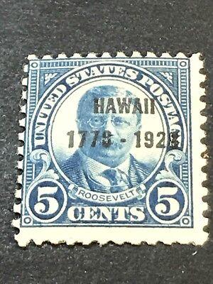 US Scott #648 Hawaii 5¢ Overprint (1928)  MLH***FREE SHIP***