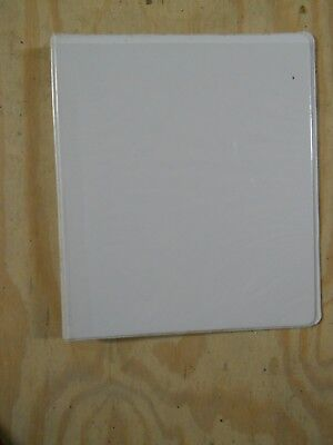 White Three Ring View Binder 1 Inch With 2 Pockets By World Wide