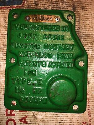 John Deere 1-12 Hp E Hit Miss Engine Governor Cover 299334