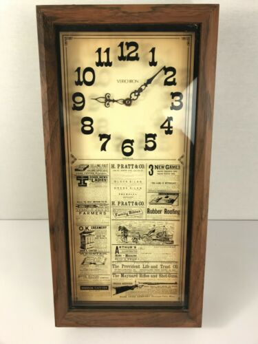 """VINTAGE WESTERN INSPIRED STYLE VERICHRON WALL CLOCK 19.5""""x10"""" USA Made WORKS"""