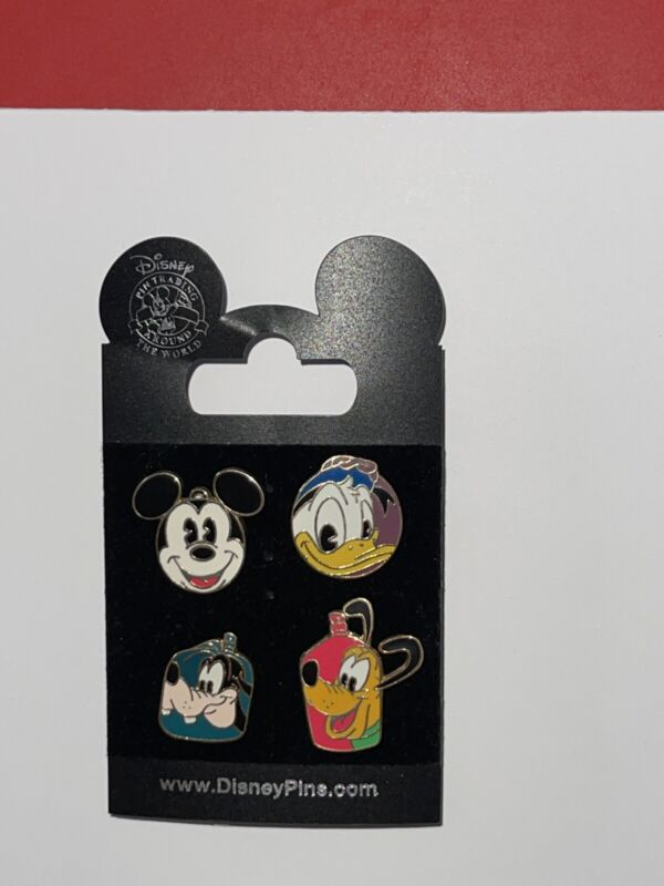 Disney Pins - DCL - Disney Cruise Line - FAB 4 Mount Rustmore (4 Pin Set) Goofy
