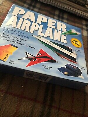 Fold A Paper Airplane (Paper Airplane Fold-a-Day 2016 Day-to-Day Calend... | Book | condition very)