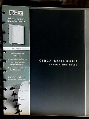 New Levenger Circa Annotation Ruled Notebook - Letter Size Large - Notes To-do