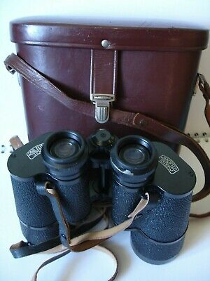 Vintage Carl Zeiss Jena Jenoptem 10 x 50w Binoculars With Leather case & strap.