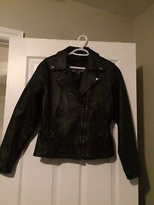 Woman's 100% real leather jacket