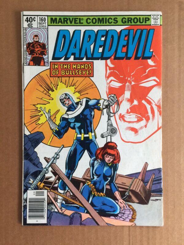 Marvel Comics DAREDEVIL #160 1979 Frank Miller art Bullseye Black Widow