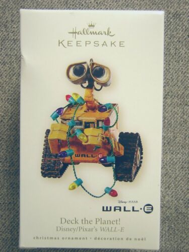 "Rare 2008 Hallmark Disney/Pixar WALL-E ""Deck the Planet!"" Ornament"