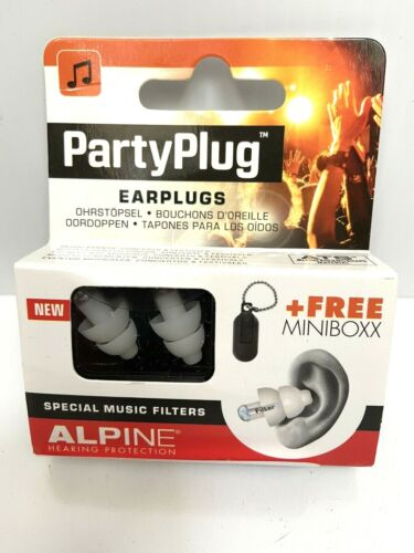 Alpine PartyPlug Ear Plugs for Loud Music Environments Concerts Plus Carry Box