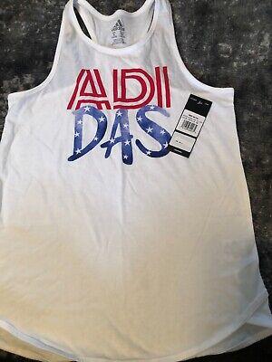 NWT Adidas  Girl's USA TANK TOP Adidas Logo Size XL 16 Girl Logo Tank