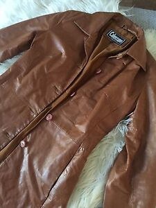 Genuine caramel leather jacket size 6 Greenwith Tea Tree Gully Area Preview