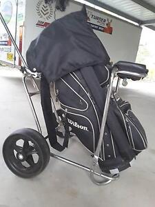 golf bag and cart/carrier trolley like new Kilcoy Somerset Area Preview