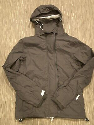 SUPERDRY ORIGINAL WINDCHEATER Men's  Nylon Hooded Sherpa Army Jacket Size M