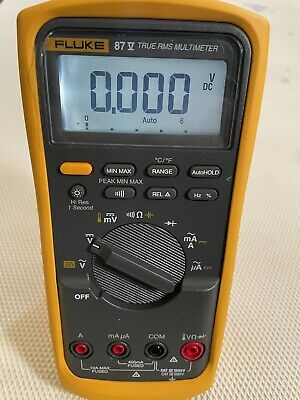 Fluke 87-v Industrial True Rms Digital Multimeter 87v 87 V No Case Included