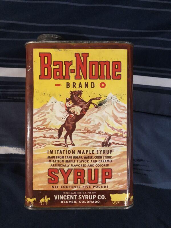 BAR-NONE Syrup Tin Denver, Colorado