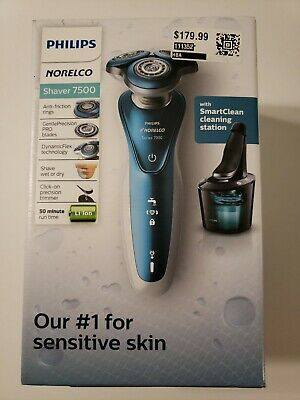Philips Norelco Shaver 7500 Sensitive Skin with SmartClean ~ SEALED S7371/84