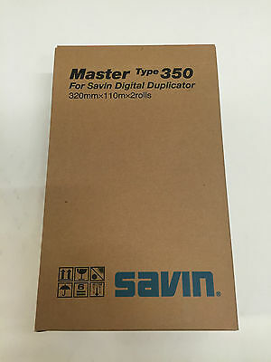 New Oem Genuine Savin Master 350 2 Rolls 4555 893021 For Digital Duplicator