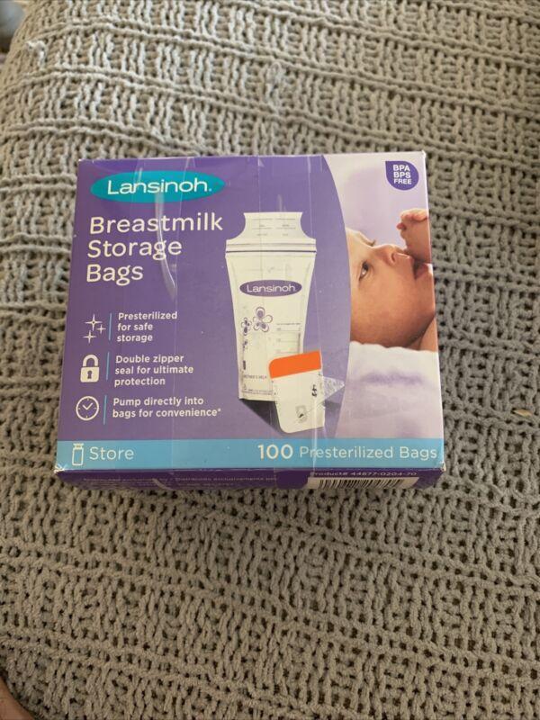 Lansinoh Breastmilk Breast Pump Storage Bag - 20470 (100 Count) Open