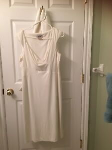 White polyester Wedding or Prom Dress with accessory cape
