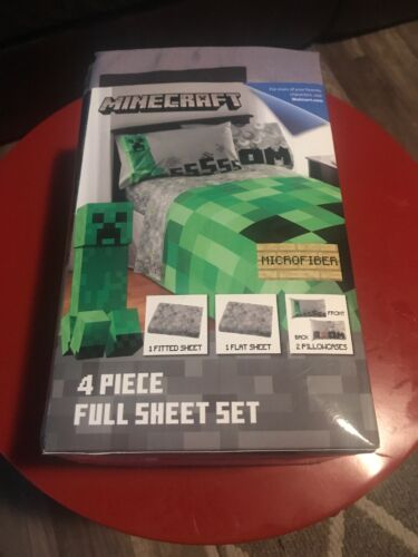 Minecraft Bedding Bed In A Bag 4 Piece Set Full Size Comfort