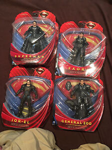 Man of steel movie masters action figures new in box
