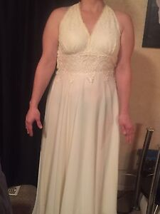 Wedding gown and matching necklace and earrings