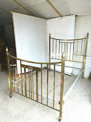 antique,victorian,brass,double bed,4' 6