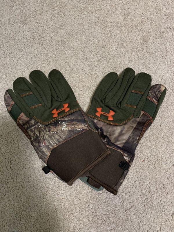 Under Armour Ridge Reaper Camo Gloves Mossy Oak Infinity XL