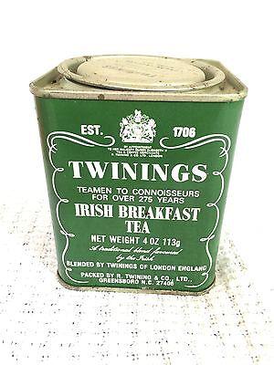 Vintage Twinings Irish Breakfast Tea Tin-4 Oz-Advertising 113g