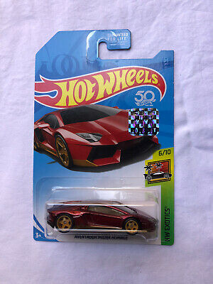 HOT WHEELS 2018 SUPER TREASURE HUNT FACTORY SEALED / PROTECTO AVENTADOR MIURA