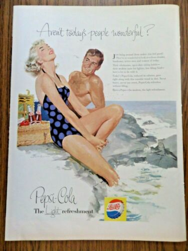 1956 Pepsi Cola Soda Ad Aren