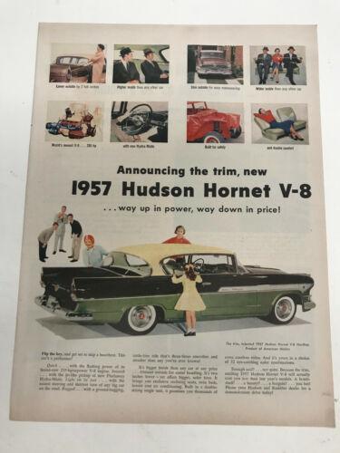 1957 Hudson Hornet V-8 Vintage Car advertisement Ad