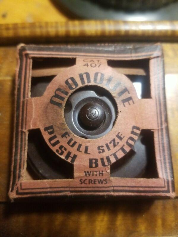 Vintage Monowatt Bakelite Push Button Original Box