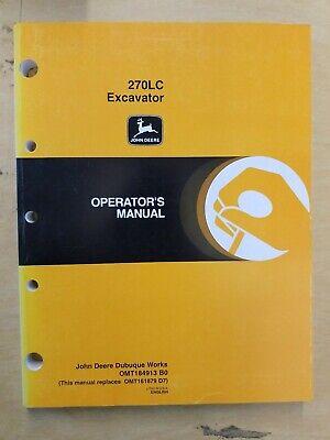John Deere 270lc Excavator Operators Manual