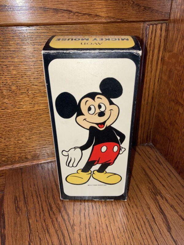 Vintage Avon Disney Mickey Mouse Bubble Bath Plastic Bottle 1970