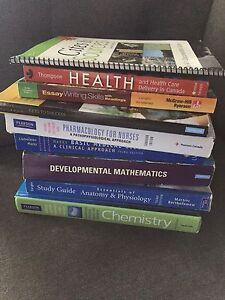 Text books used for conestoga pre health