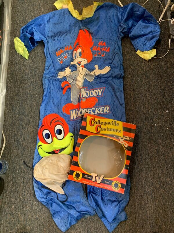 VINTAGE COLLEGEVILLE COSTUMES WOODY WOODPECKER COSTUME CHILD LARGE 12-14